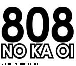 808 No Ka Oi Decal