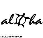 Aloha with Honu Decal