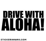 Drive With Aloha Decal
