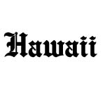 HAWAII Gothic Decal