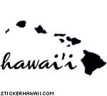Hawai'i with Islands Decal