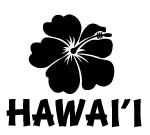 Hawaii With HIBISCUS Decal