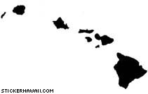 Hawaiian Island Chain Decal Sticker