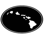 Islands In Oval Decal