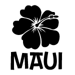 Maui Hibiscus Vinyl Decal Sticker