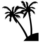 NIU COCONUT PALM Decal