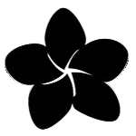 Plumeria Vinyl Decal Sticker