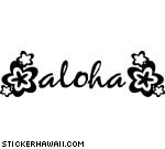 Aloha with Multiple FlowersDecal