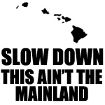 Slow Down This Ain't The Mainland Decal